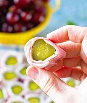 Cream Cheese Ham Pickle Roll Up Piece