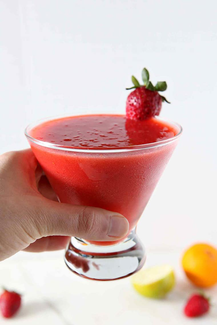Strawberry Margarita in Glass