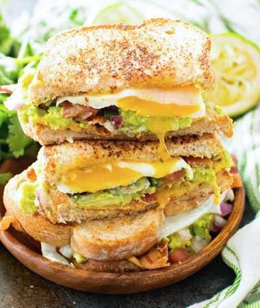 Southwestern Breakfast Sandwiches