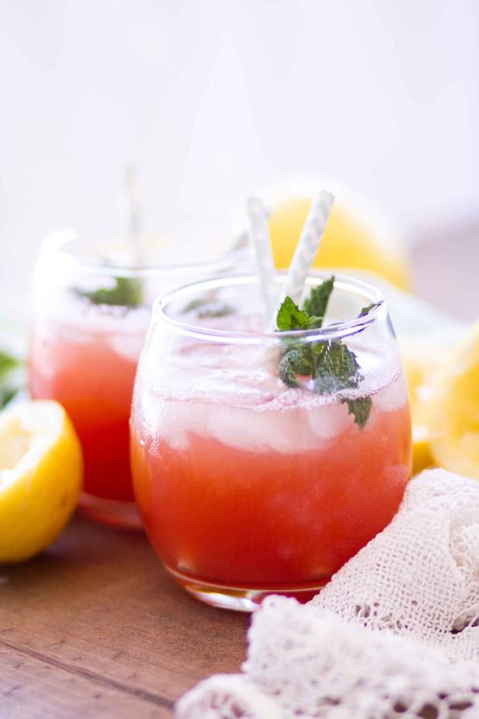 easy watermelon lemonade with mint