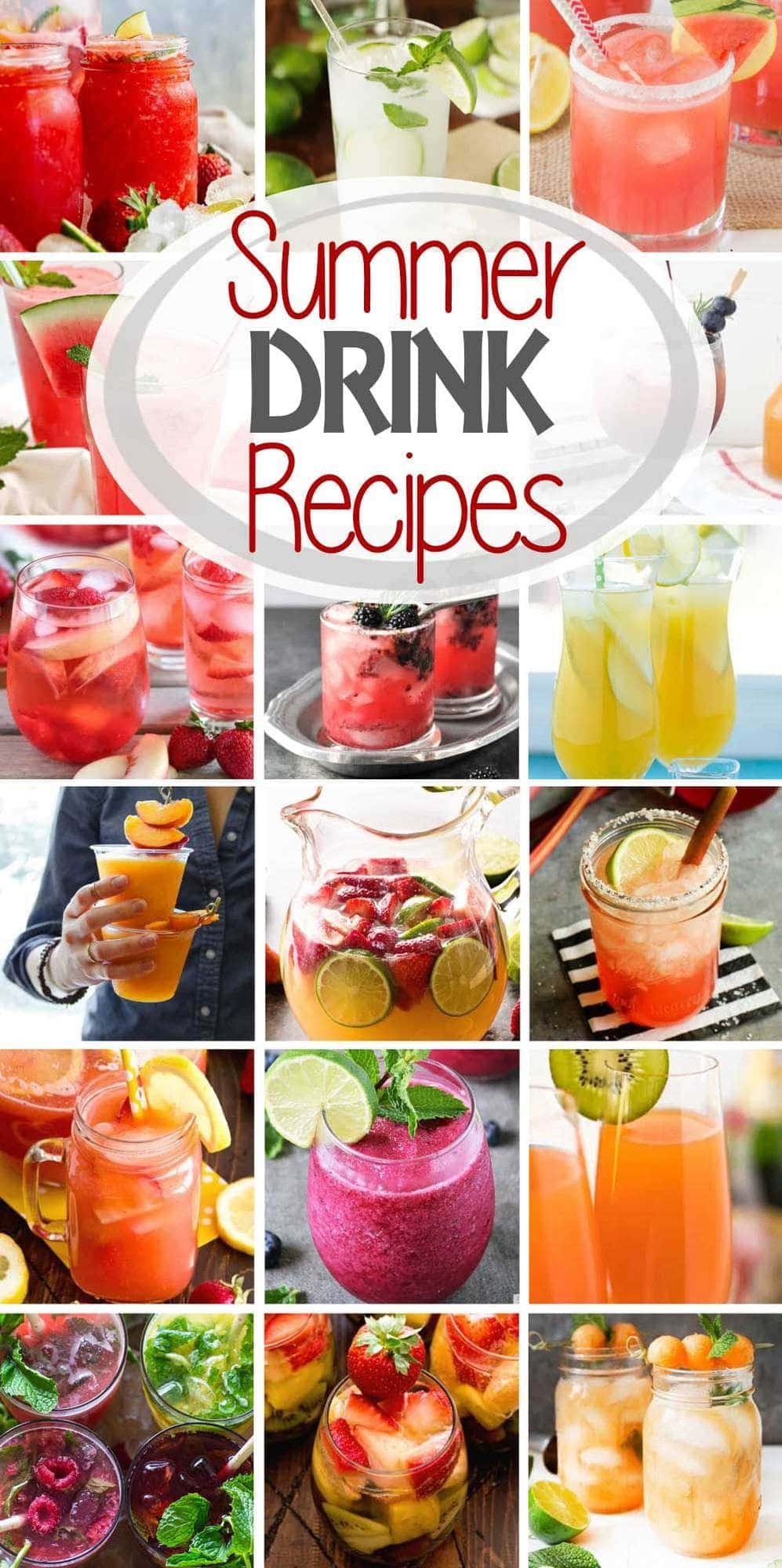 These are the BEST Alcoholic Summer Drink Recipes! Everything from Sangria, Margaritas, Hard Lemonade, Cocktails and More! These drinks are perfect for beating the summer heat while staying refreshed! Make a drink at home and enjoy summer! #cocktail #cocktails #summer #alcohol #alcoholic #sangria #margarita #lemonade #recipe #recipeideas #recipeinspiration #julieseatsandtreats