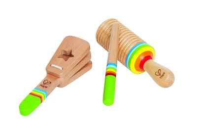 Hape Rhythm Kid's Wooden Musical Instrument Set Stocking Stuffers