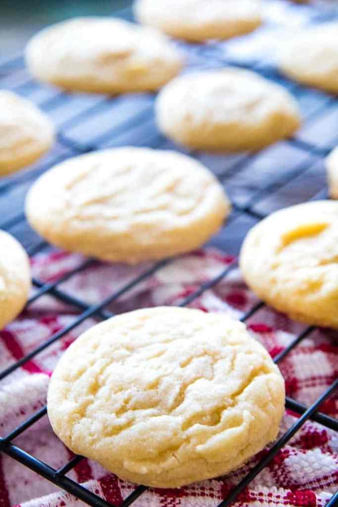 Sugar Cookies on wire rack