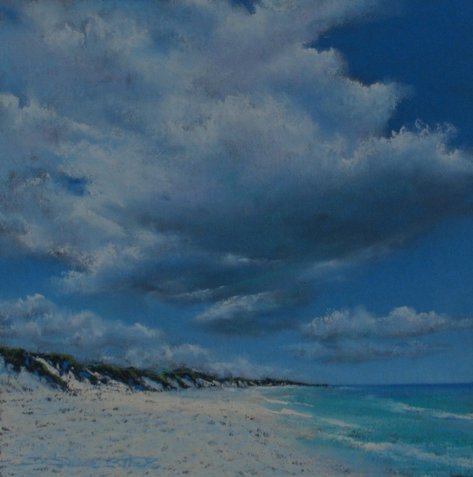 Julie Silvester - Morning Clouds - 53cm x 53cm