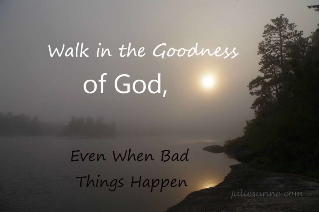 Walk In the Goodness of God, Even When Things Look Bad
