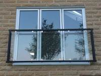 Glass Juliet Balconies made to order from 396 inc Vat.