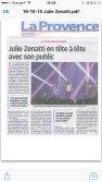"""Article dans """"La provence"""" - Julie Zenatti en tête à tête avec son public"""