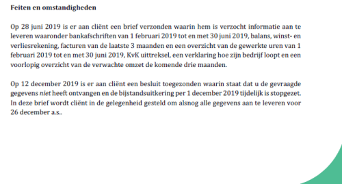 Uitkering stopt gezet Den Haag