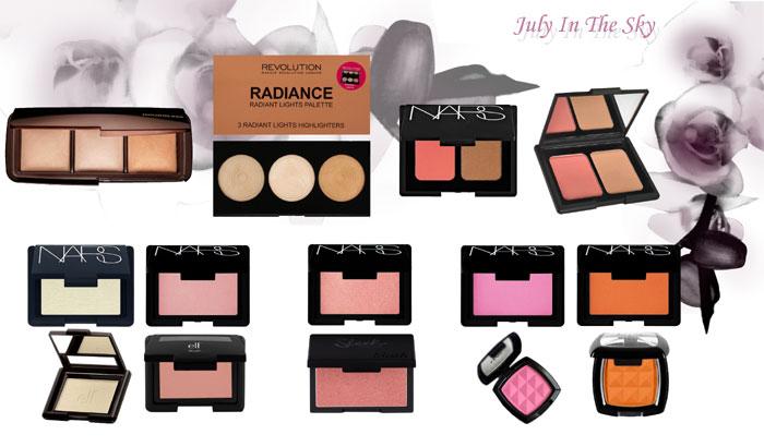 blog beauté Jeu de dupe : Ambient Lighting Palette - Hourglass - Highlighter Palette Radiance - Makeup Revolution - Duo Blush / Bronzer - Nars - Poudre Contouring Blush et Bronzing - Elf - Blush - Nars - Blush Studio - Elf - Blush - Sleek Makeup - Powder Blush - NYX