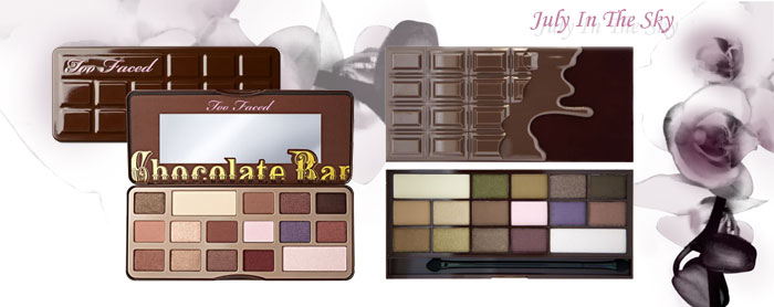 blog beauté Jeu de dupe : Chocolate Bar - Too Faced - I Heart Chocolate - Makeup Revolution