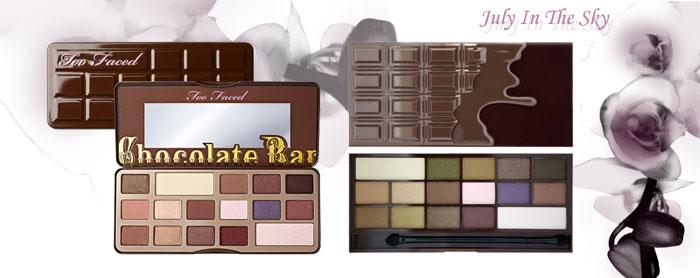 blog beauté Jeu de dupe : Chocolate Bar - Too Faced - I Heart Chocolate - Makeup Revolution