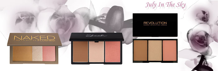 blog beauté Jeu de dupe : Naked Flushed - Urban Decay - Face Form - Sleek Makeup - Iconic Pro Blush, Bronze and Brighten - Makeup Revolution