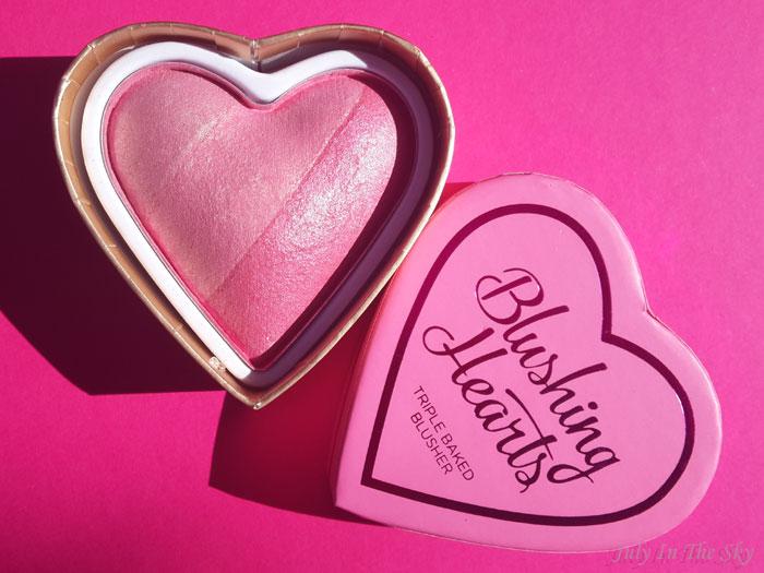 blog beauté haul makeup revolution blush blushing hearts dupe too faced avis
