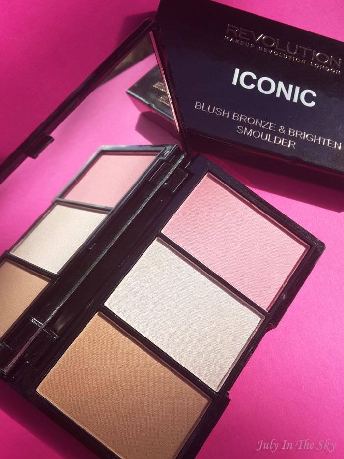 blog beauté haul makeup revolution palette naked fleshed dupe urban decay iconic smoulder pro blush bronze and brighten avis swatch