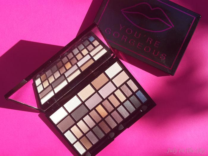 blog beauté haul makeup revolution palette you're gorgeous avis
