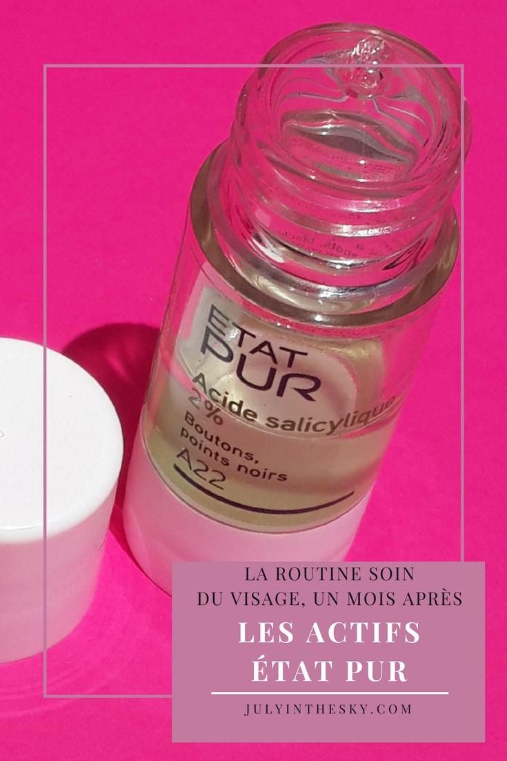 blog beauté routine actifs etat pur acide salicylique avis test