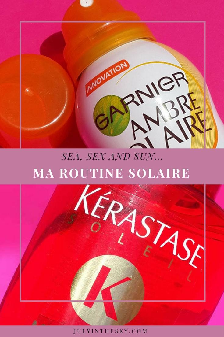 blog beauté avis brume toucher sec ambre solaire garnier clarins stick solaire spf50 balm kiko après soleil sorbet garnier voile protecteur kerastase