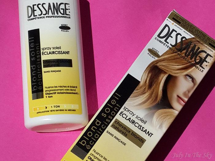 blog beauté blond dessange spray soleil eclaircissant avis test