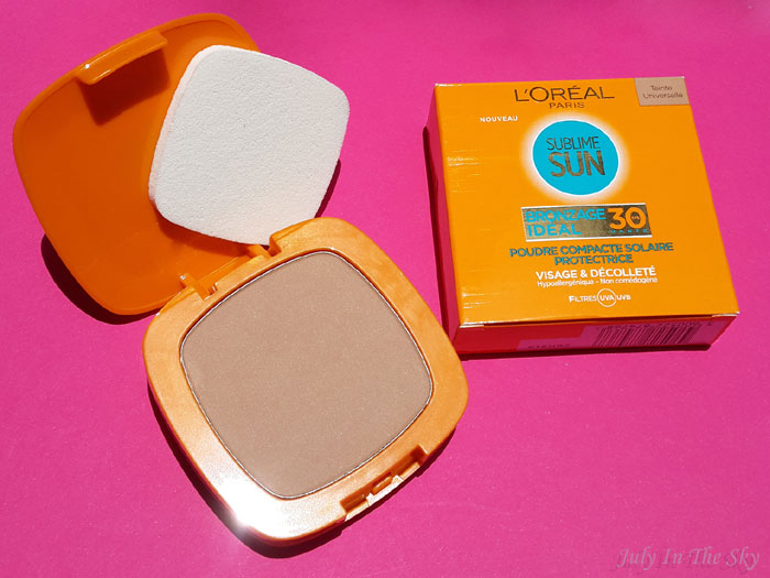 blog beauté indispensables été poudre sublime sun compacte bronzage ideal l'oréal spf30 test avis