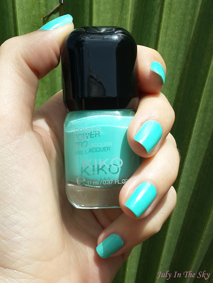 blog beauté vernis kiko power pro nail lacquer 36 acquamarine swatch avis test