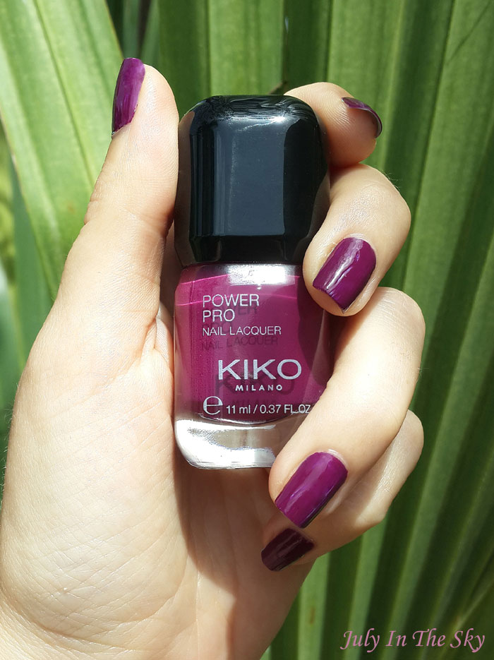 blog beauté vernis kiko power pro nail lacquer cyclamen 20 swatch avis test