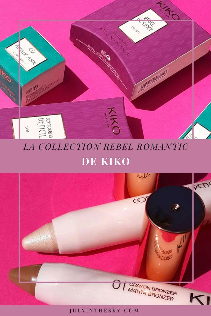 blog beauté kiko collection rebel romantic contouring pencil set colour definition eyeliner and kajal metallic shine eyeshadow rebel bouncy blush avis test swatch