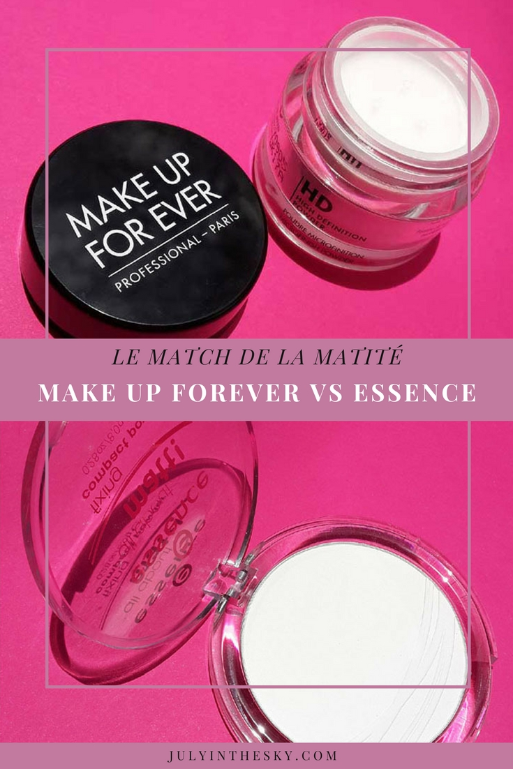 blog beauté poudre matifiante essence make up for ever avis test
