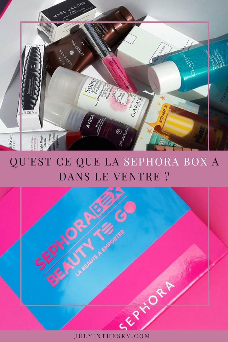 blog beauté box sephora beauty to go avis test valeur swatch