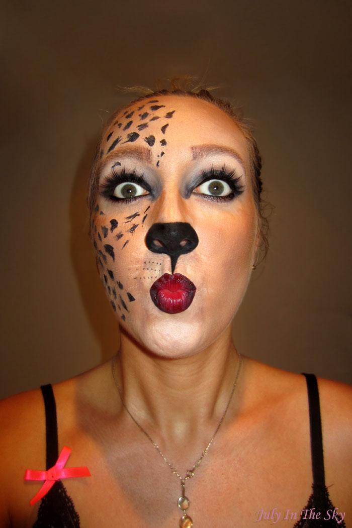 blog beauté make up tutoriel halloween fauve chat félin