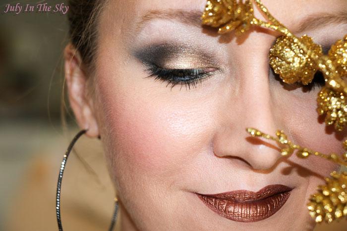 blog beauté make-up réveillon noel doré gold or make-up of the day
