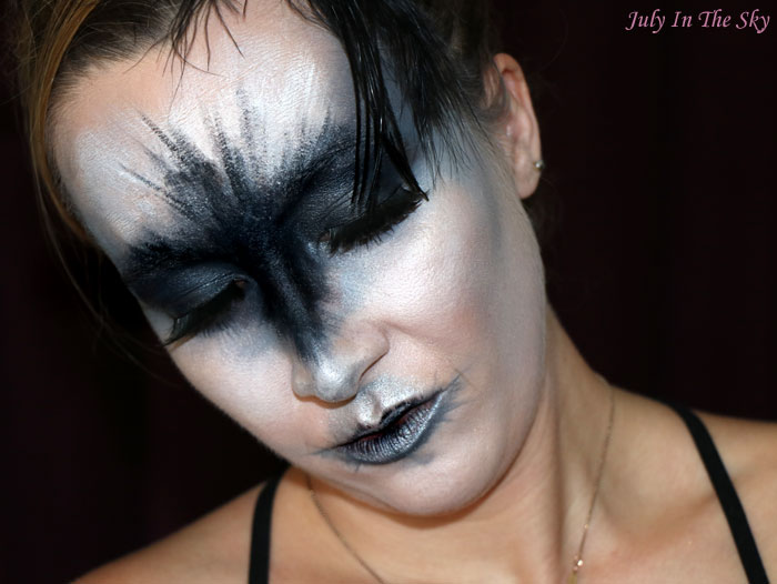 blog beauté monday shadow challenge black swan make-up artistique