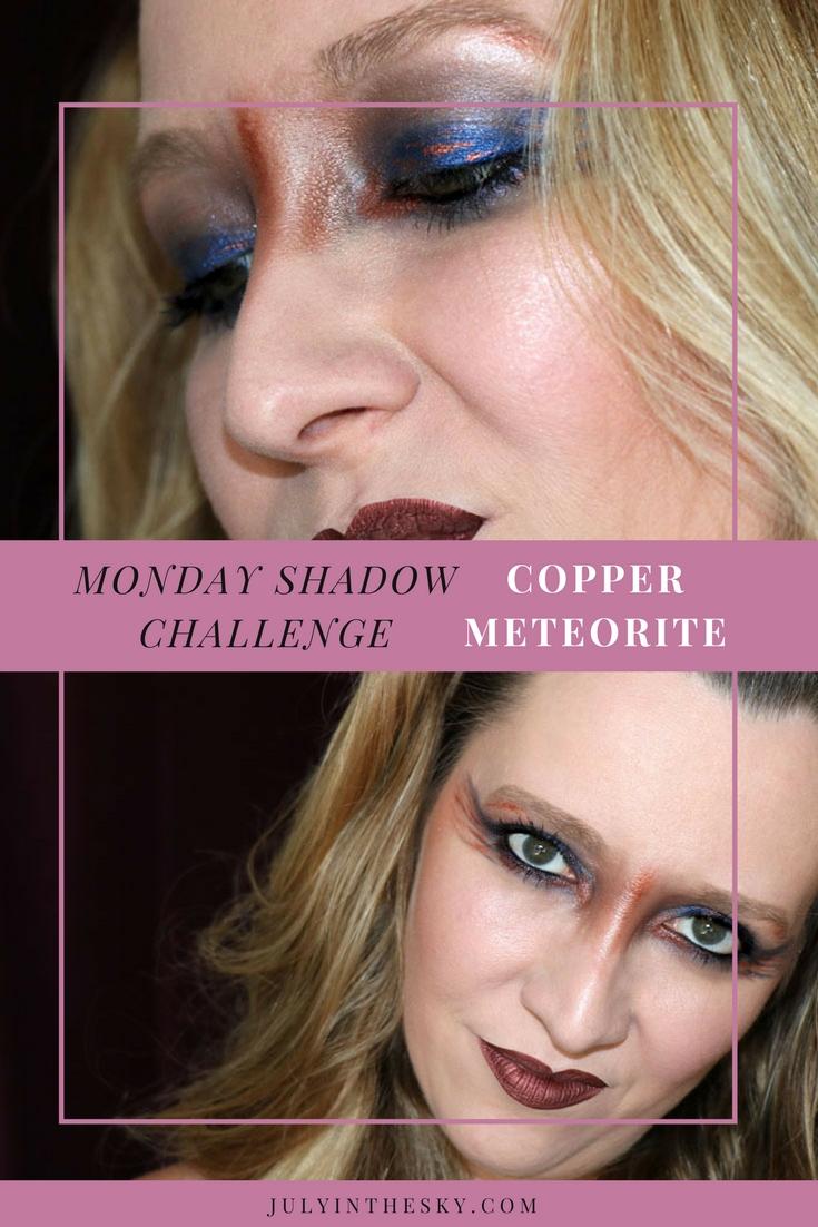 blog beauté maquillage monday shadow challenge copper meteorite cuivre make-up artistique