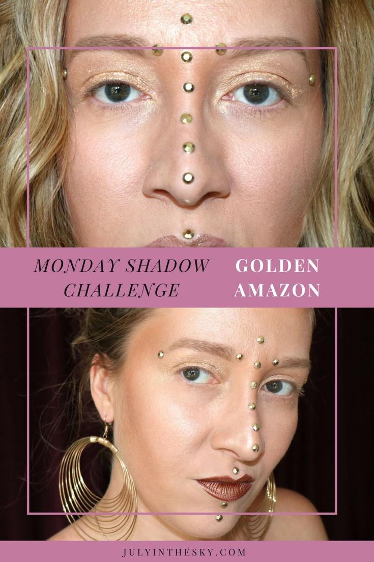 blog beauté maquillage monday shadow challenge golden amazon make-up artistique