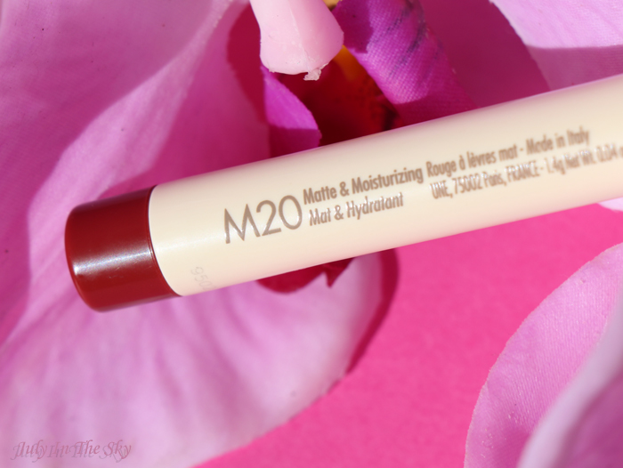 July In The Sky : blog beauté une beauty rouge ideal m20