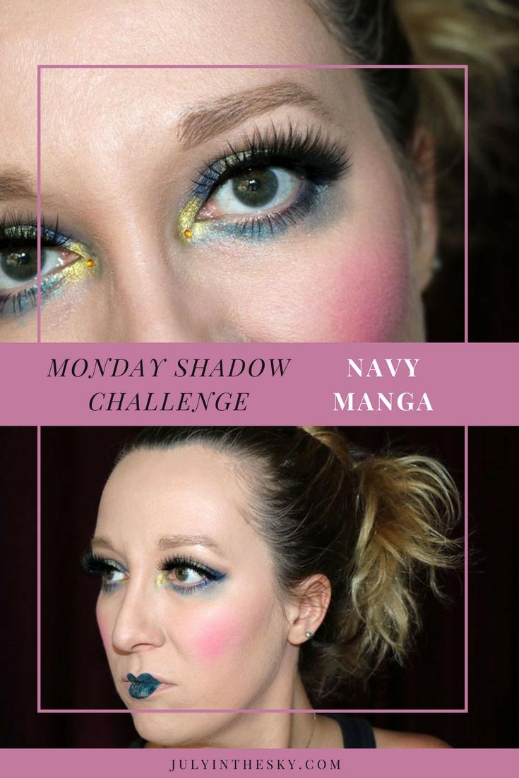 blog beauté maquillage monday shadow challenge navy manga make-up artistiquemonday shadow challenge navy manga make-up artistique