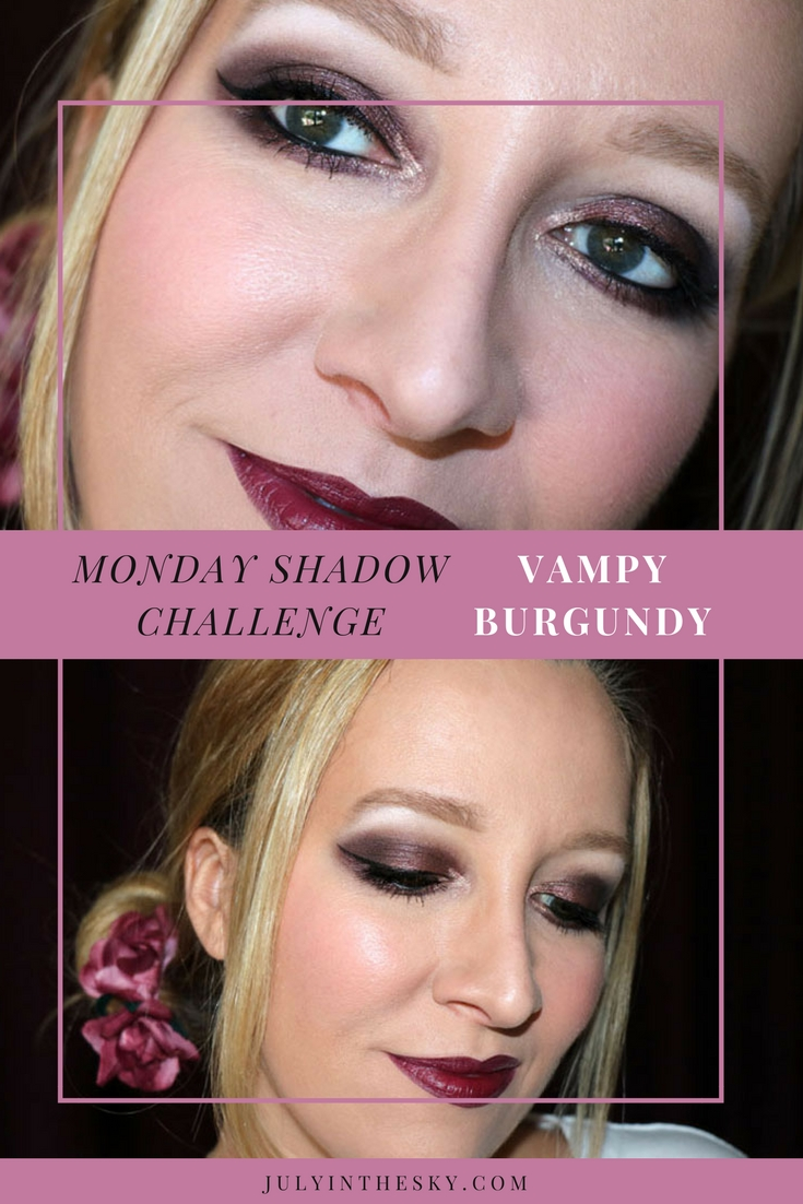 blog beauté maquillage monday shadow challenge vampy burgundy make-up artistique