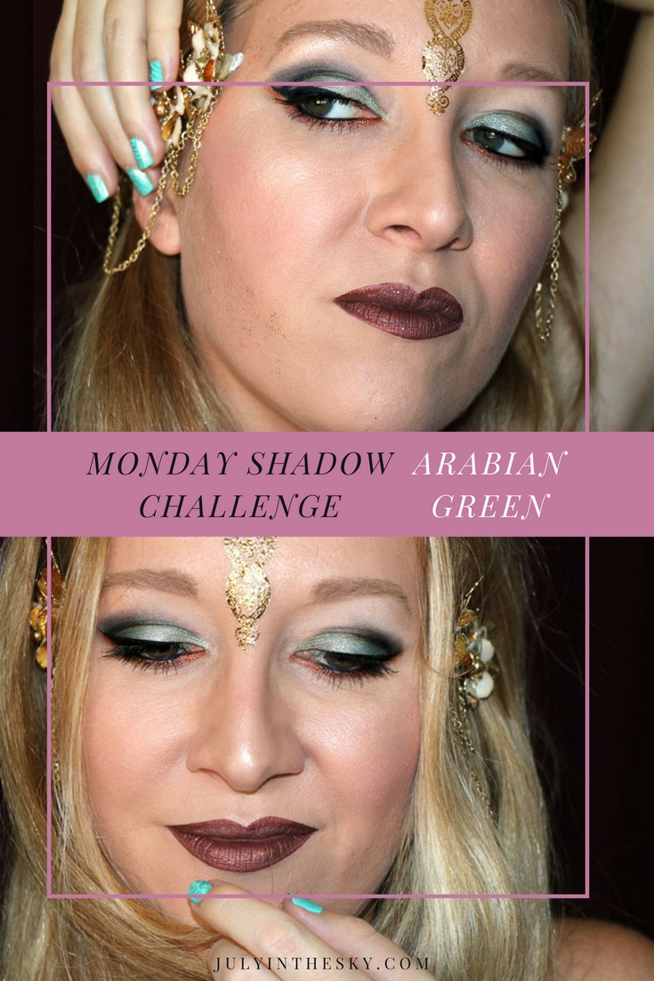 blog beauté maquillage monday shadow challenge arabian green