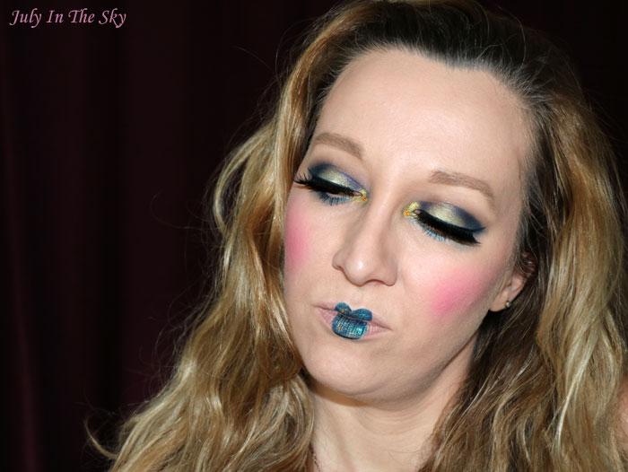 blog beauté monday shadow challenge navy manga make-up artistique