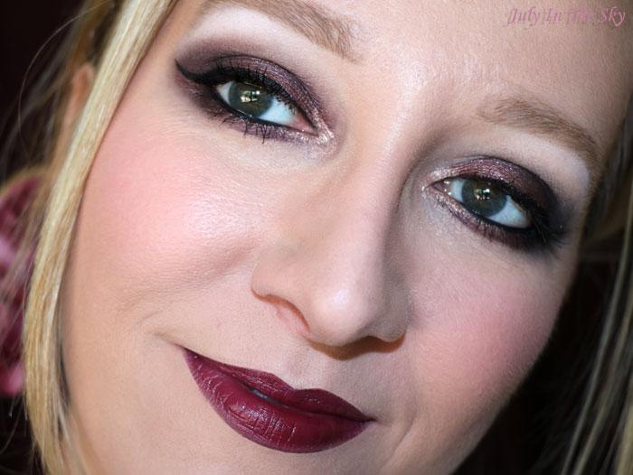 blog beauté monday shadow challenge vampy burgundy make-up artistique