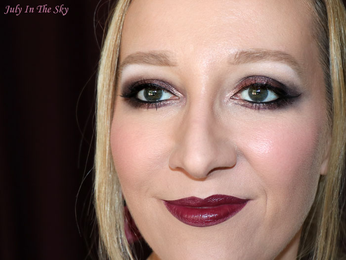 blog beauté monday shadow challenge vampy burgundy make-up artistique