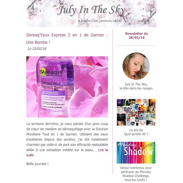 blog beauté newsletter anniversaire