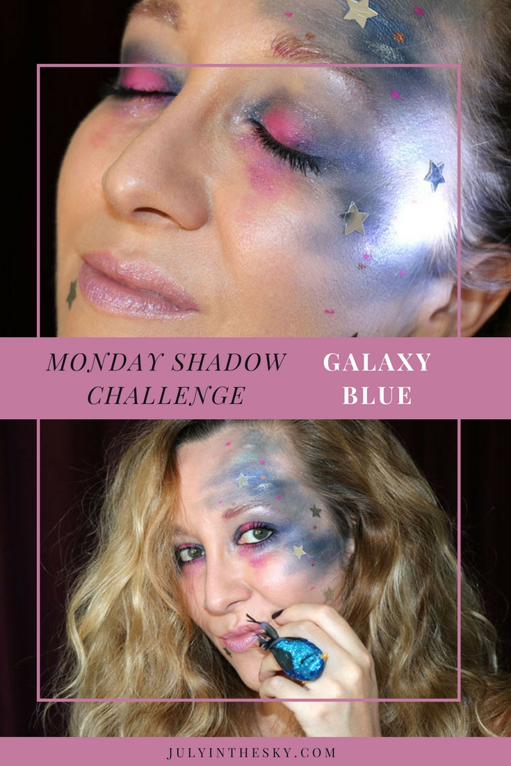 blog beauté maquillage monday shadow challenge galaxy blue