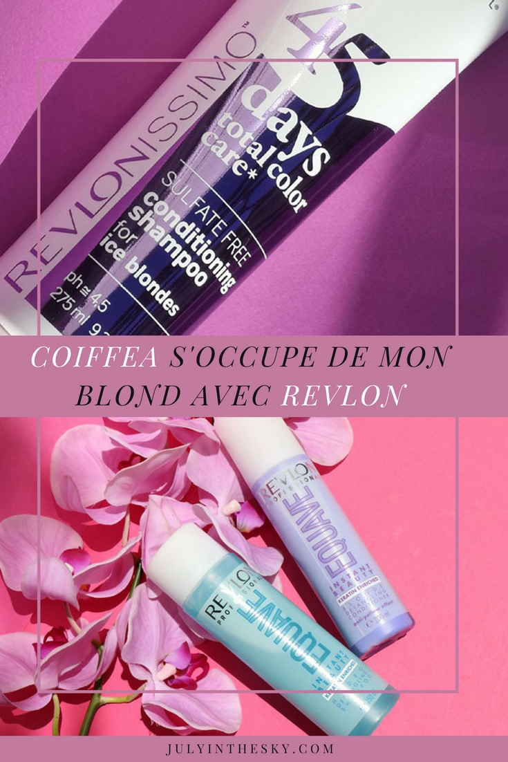 blog beauté cheveux blonds coiffea revlon 45 days 2en1 total colour care duo instant beauty equave
