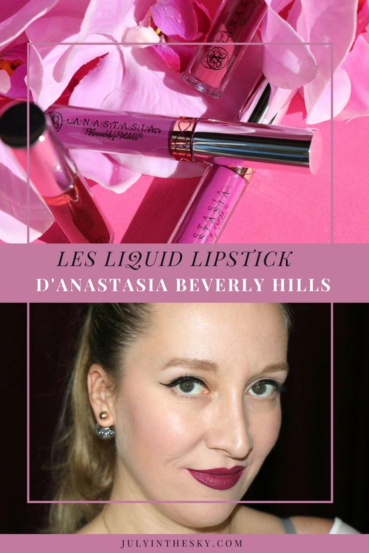 blog beauté anastasia beverly hills liquid lipstick avis swatch