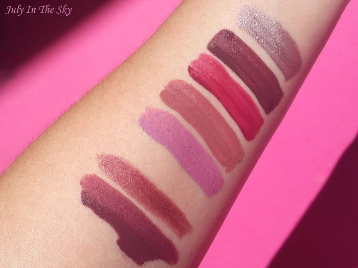 blog beauté lime crime velvetines matte metallic swatch