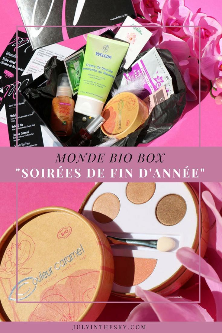 blog beauté monde bio box soirées de fin d'année