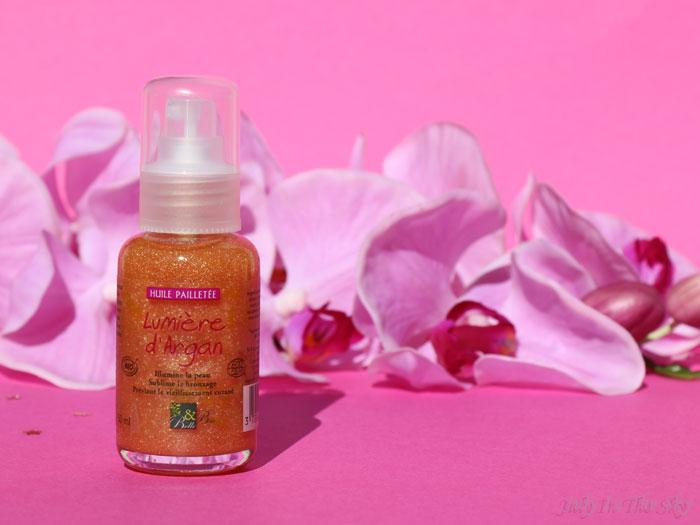 blog beauté monde bio box soirées de fin d'année belle & bio huile scintillante lumière d'argan
