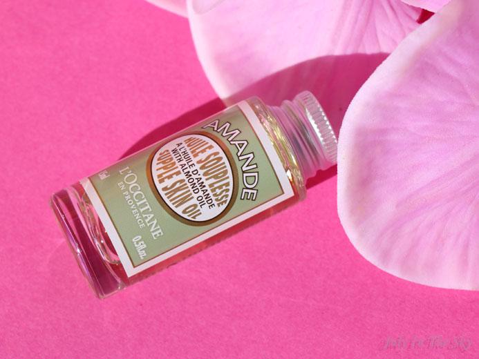 blog beauté l'occitane coffret amande gourmande huile souplesse