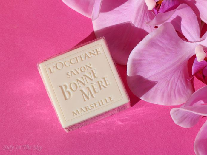 blog beauté l'occitane coffret amande gourmande savon bonne mère