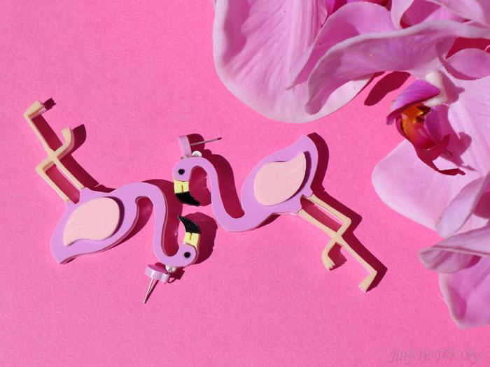 blog beauté FromNicLove flamand rose boucles oreilles